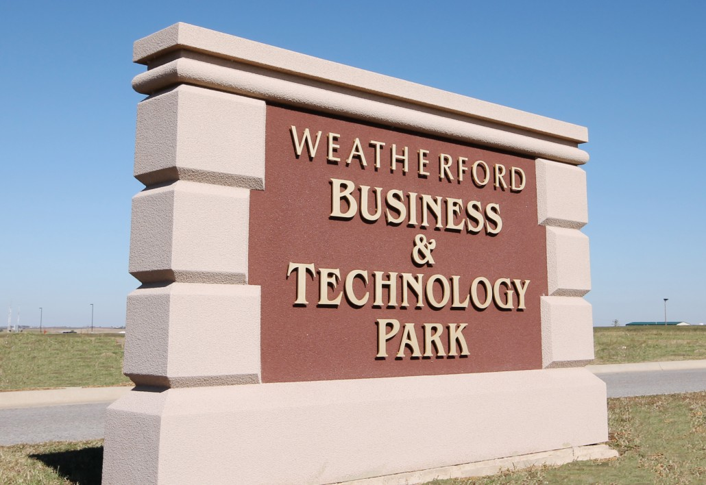 business park sign Welcome