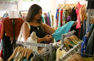 The British Red Cross charity shop, who specialise in Designer Clothes, off Kings Road, London, Britain - 31 Aug 2007